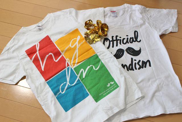 まず、好きなアーティストのツアーTシャツや、ライブ中にゲットした金テープなどを用意します