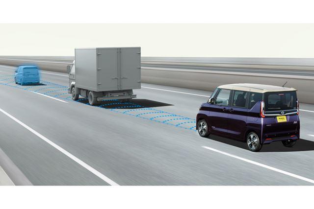 日産 新型「ルークス」に搭載されている安全運転支援システム「インテリジェントFCW(前方衝突予測警報)」
