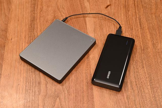 5V2A以上の出力のあるモバイルバッテリーと組み合わせることで、電源のない場所でも利用できる