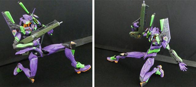 股関節、膝周りの可動が優秀なおかげで、膝立ちや肩を大きく開くポージングも自在
