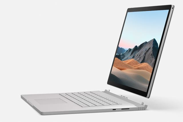 Surface Book 3もデザインや機能面は前世代のSurface Book 2から変わっていない