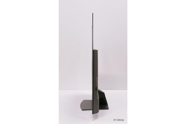 有機ELパネルの特徴を生かした薄型デザインを採用