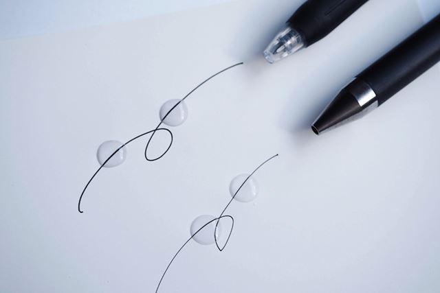 水性顔料ゲルインキボールペンは、なめらかな書き心地も魅力