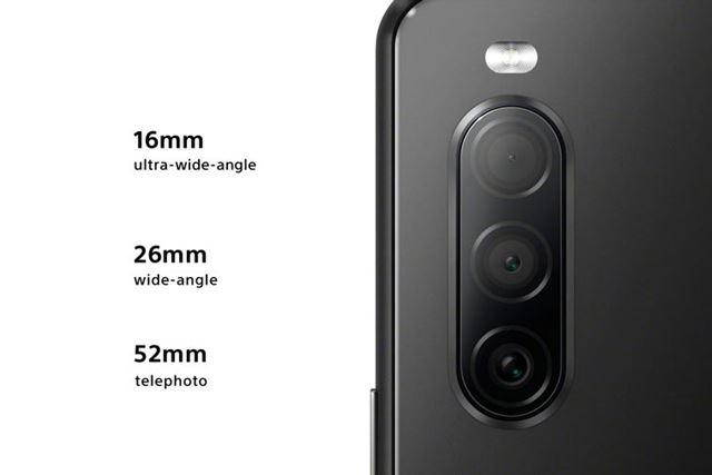 メインカメラは、超広角、標準、望遠という組み合わせのトリプルカメラ