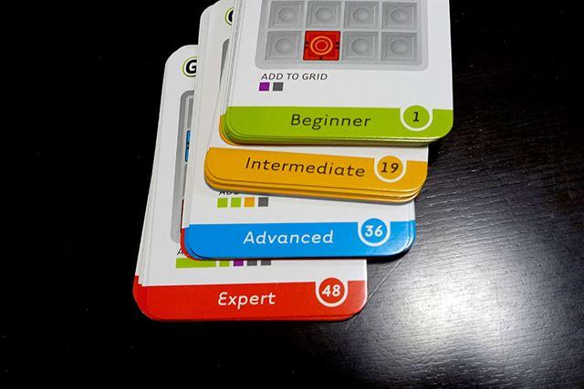 このカードが問題になっていて、「ビギナー」から「エキスパート」まで、4種類の難易度に分かれています