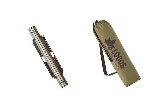 付属の収納バッグに入れて携帯可能。収納時は40(幅)×8(高さ)×6(奥行)cmとコンパクトに