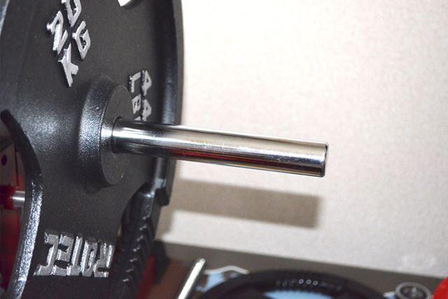 160cmシャフトのプレートをはめる部分はネジ式にはなっておらず、プレートの脱着がしやすいです