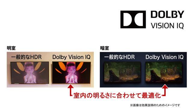Dolby Visionの画質を最大限に引き出す新技術「Dolby Vision IQ」をサポート