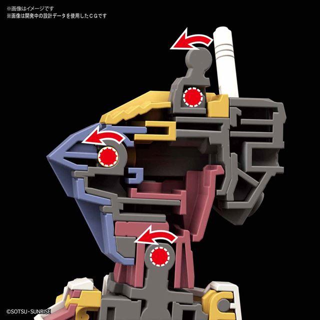 胴体には、前屈やスイングできる構造を採用。また、首軸も前後に可動する