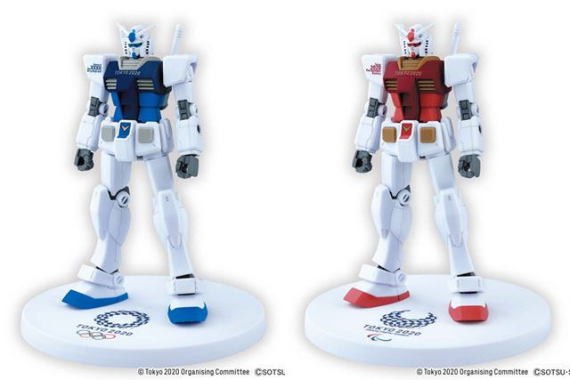 左が「東京2020オリンピックエンブレム」モデルで、右が「東京2020パラリンピックエンブレム」