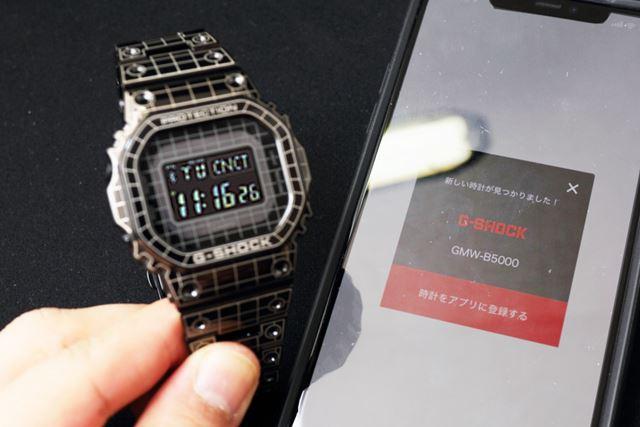 スマホとつながるとBluetoothロゴと「CNCT(Connect)」の文字が液晶画面に表示される