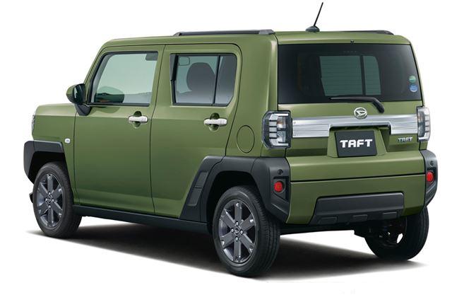 画像は、市販モデルの「タフト」(ディーラーオプションの「メッキパーツ」装着車)