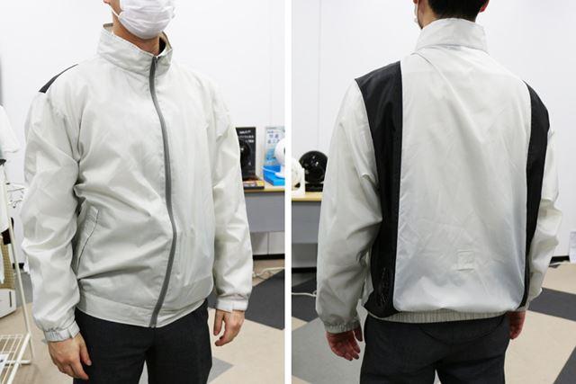 「クールウェア長袖セット」を普通に着た感じは、一般的なジャケットと変わりません