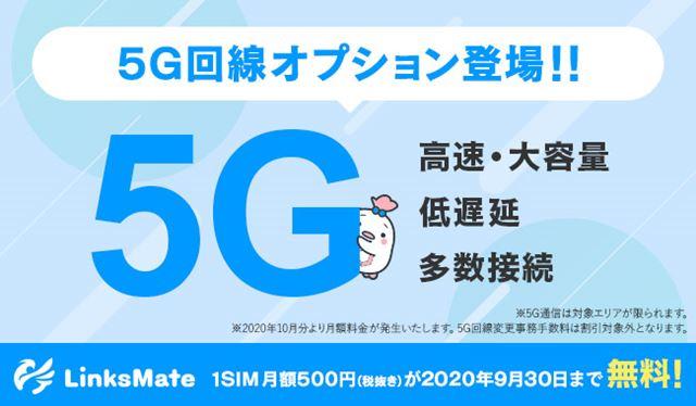 格安SIMとしては国内初の5Gサービス利用のオプションとなった