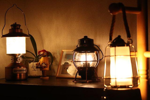 普段はインテリアとして飾っておいて、キャンプが恋しくなった夜に点灯して家キャンを楽しんでみては?