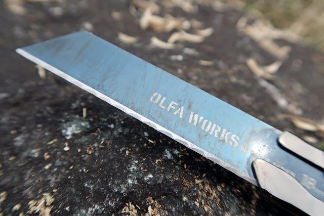 もっとも活躍したフィールドナイフは一般的なストレートな刃に比べ、波刃の切れ味はさすがのものであった