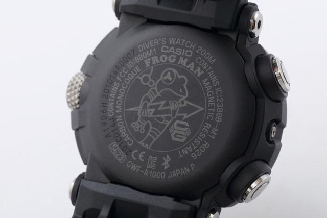 「フロッグマン」のアイコンは、アナログ針をイメージ