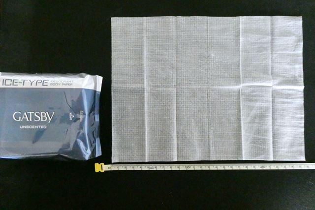 大きさは約250×200mm。厚手です
