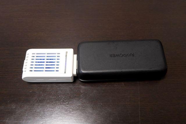 「マトちゃん」はUSB対応なので、モバイルバッテリーでも使うことができるわけですよ!