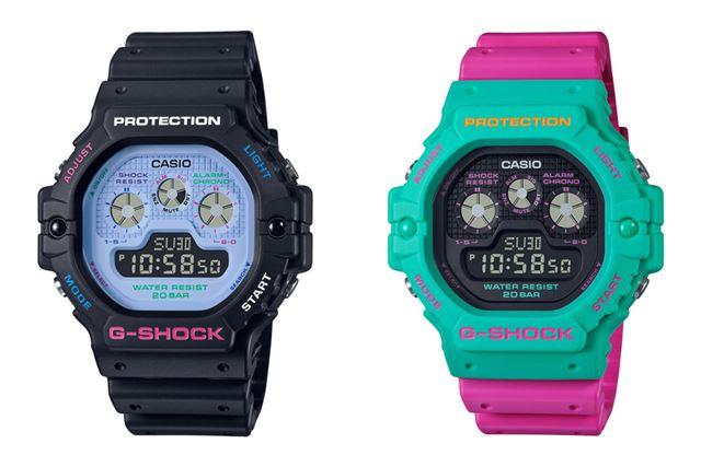 左が「DW-5900DN-1JF」で、右が「DW-5900DN-3JF」。各12,100円で2020年6月発売
