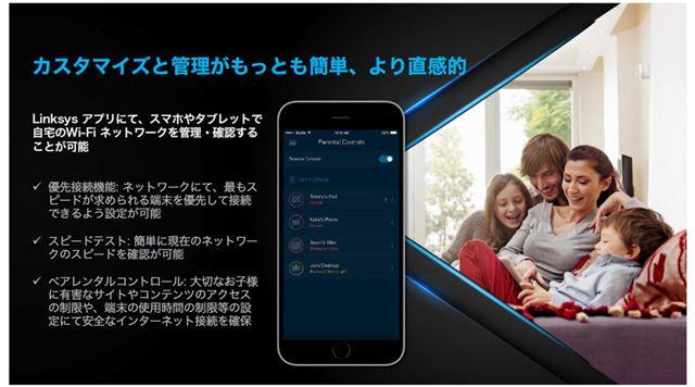 Wi-Fiネットワークの管理や確認は「Linksys」アプリで行える