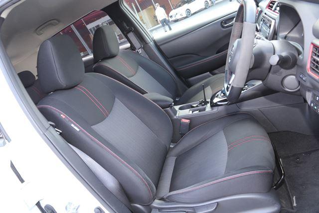 日産「リーフNISMO」に標準装備されているシート