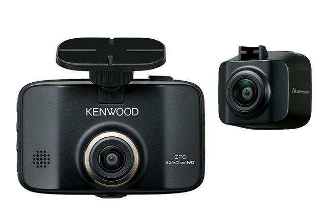 「DRV-MR8500」のフロントカメラ(左)とリアカメラ(右)
