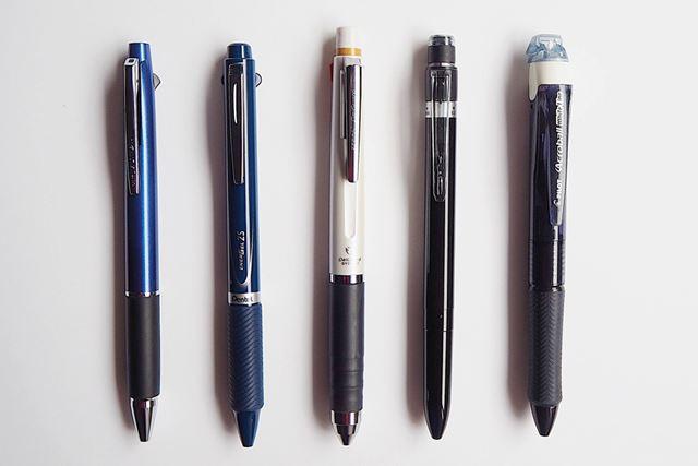 各ブランドの多機能ペンが揃い踏み!