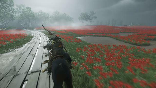 プレイ中のBGMは環境音がメインなので、「Ghost of Tsushima」の世界に没頭できます