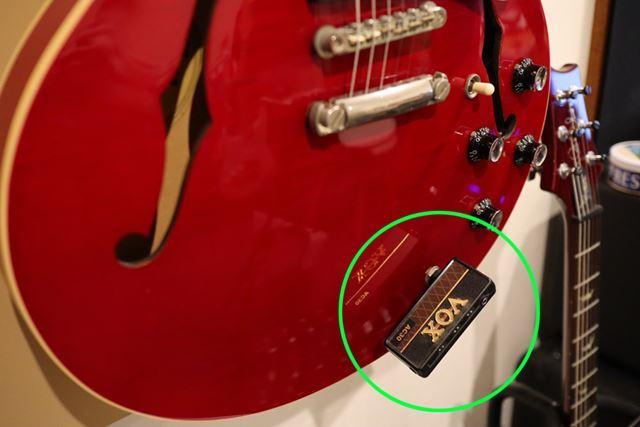 これが大ヒット製品の「amPlug」。夜中の練習ではこれを使うことが多いです
