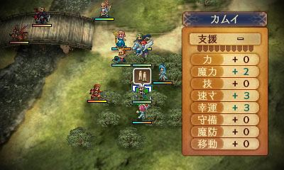 防陣では、前衛キャラクターの能力が底上げされ、敵側の攻陣を後衛キャラクターがガードしてくれる