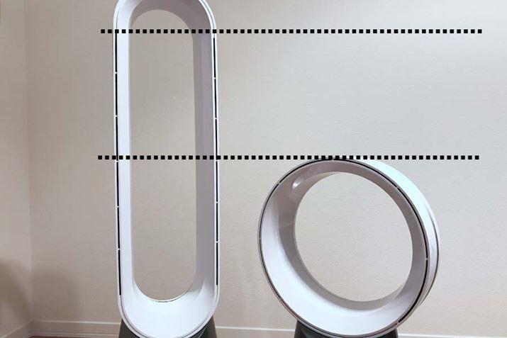 Chiều cao cửa thoát gió của quạt bàn bằng một nửa so với quạt tháp, nhưng ...