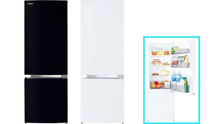 """Ngăn mát tủ lạnh có ba túi cửa, và ngăn đá có hộp trượt.  Cấu trúc cơ bản giống như GR-S17BS, và """"GR-S15BS"""" (với dung lượng lưu trữ 153L và tiêu thụ điện năng hàng năm: 298kWh / năm), chiều cao thấp hơn 10cm, cũng có sẵn.  Chỉ GR-S17BS được trang bị bộ lọc khử mùi kháng khuẩn"""