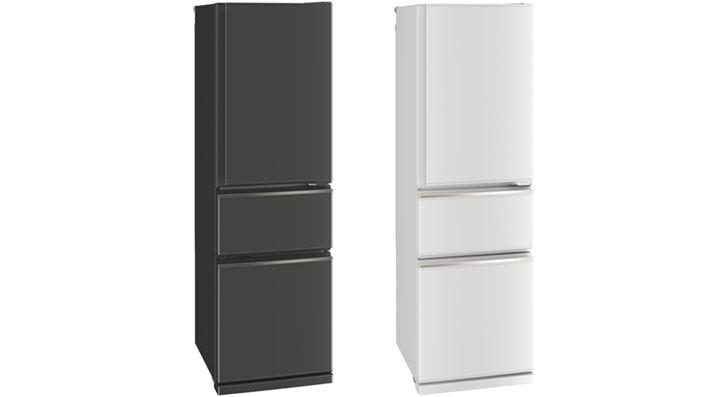 """Bố cục là """"phòng tủ lạnh"""" """"phòng rau"""" """"phòng đông lạnh"""" từ trên xuống.  Không gian lắp đặt giống như MR-CX30E, và """"MR-CX27F"""" (với dung tích lưu trữ 272L), có chiều cao thấp hơn 12cm, cũng có sẵn.  MR-CX27F cũng có thể chuyển phòng lạnh sang tủ chứa dưới 0"""