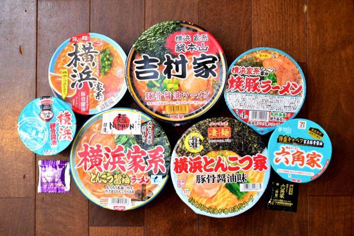 個人的に気になるのは、元祖の「吉村家」以外は、青磁の丼の色をパッケージのイメージカラーに採用している点。「吉村家」も昔は、「ラーメンショップ」の流れ(※)である青磁丼を使用していましたが、今は黒い丼なので元祖に合わせているのだろう