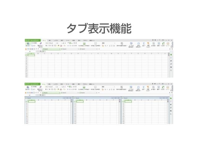 WEBブラウザのように開いたファイルをタブで表示したり、ファイルを並べて比較したりすることが出来ます。複数のファイルを同時に扱うことが多い際に作業効率を大幅にアップします。