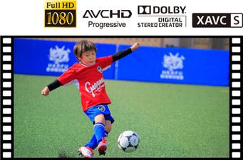 XAVC S(TM)(*1)フォーマットを採用し、高画質動画撮影に対応