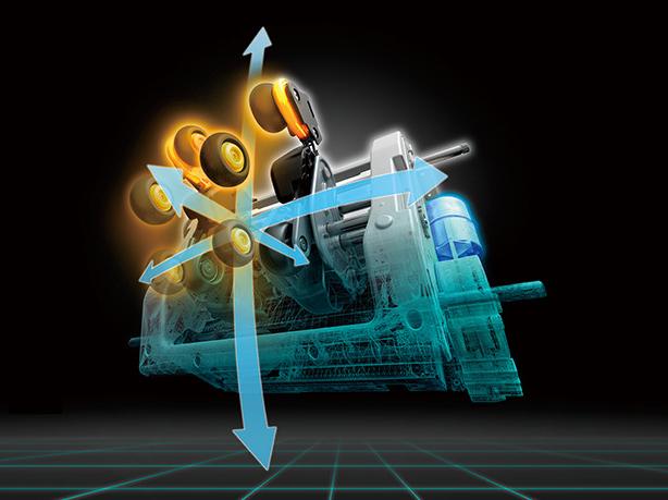 「3D独立駆動」とロボット工学を応用した、独自のモーター制御技術。