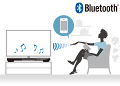 Bluetooth®接続でワイヤレス再生が可能