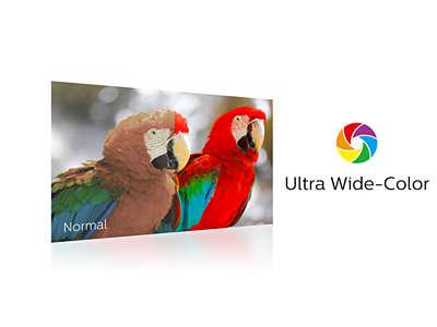 Ultra Wide Color の広色域で鮮明な映像を実現