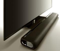 テレビの前にすっきり置ける高さ53mmのスリムボディ