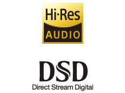 最大でDSD 22.4MHz、PCM 768kHz/32ビットのハイレゾ音源の再生に対応