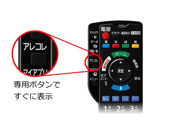 テレビもネット動画も切替えずに、選んで見られる