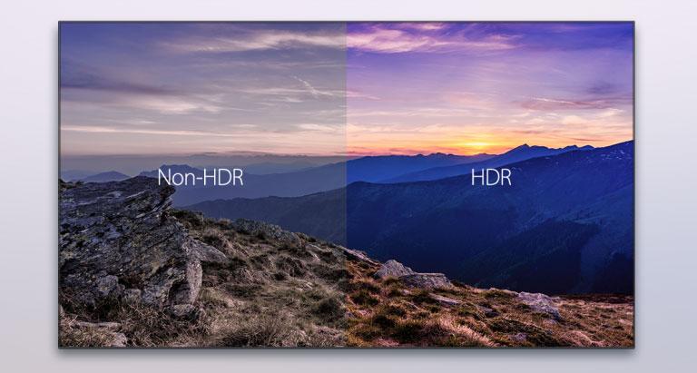ハイ・ダイナミックレンジ技術「HDR」と広色域規格「BT.2020」に対応