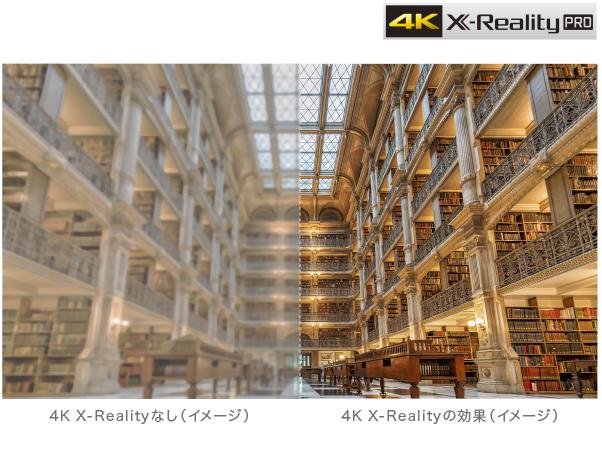 【特長1】あらゆる映像を高精細な4K画質にアップコンバート
