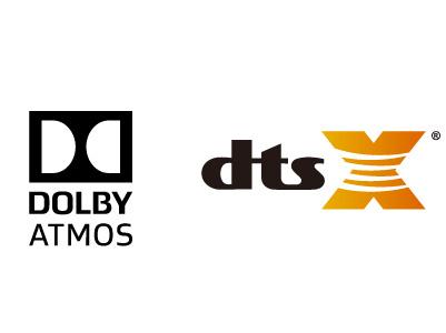 最新の音声フォーマット「ドルビーアトモス」「DTS:X(R)」に対応