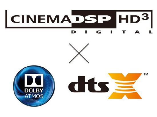 シネマDSP HD3とDolby Atmos®&DTS:X™との掛合わせ再生