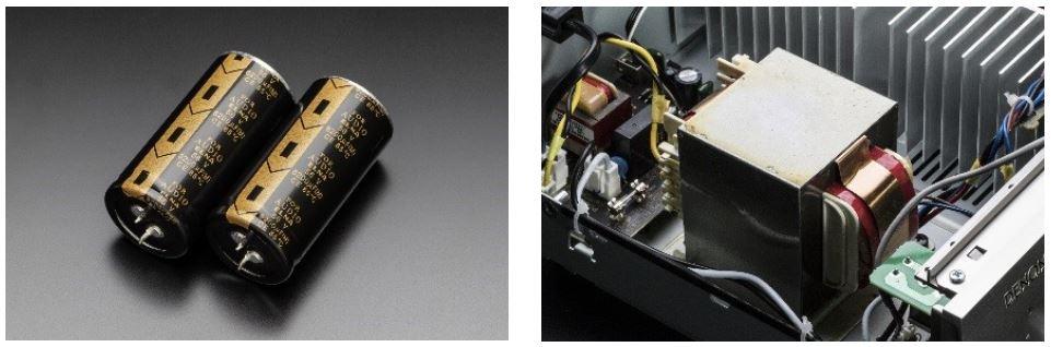 新開発のブロックコンデンサーを採用した強力な電源回路