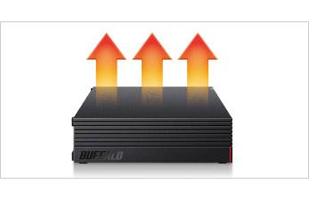 ハードディスクの熱をより効果的に放熱
