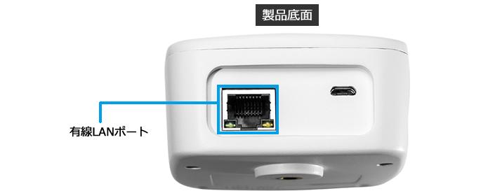 復活!有線LAN対応だから簡単設置・安定運用